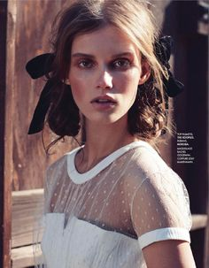 Giedre Dukauskaite by Nicolas Moore for Elle France January 2014