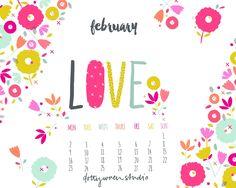 dottywrenstudio: Feb Calendar