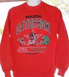 Georgia Bulldogs UGA Michigan State Vintage 1989 Gator Bowl Sweatshirt Large #Jerzees #GeorgiaBulldogs