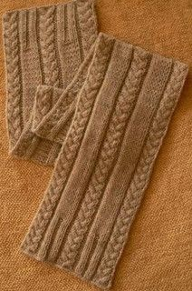 Plait Cable Scarf by Katherine Fagan - free