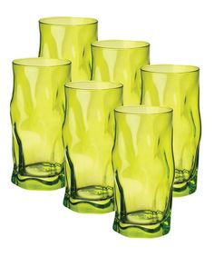 Take a look at this Lime Green Sorgente Cooler Glass - Set of Six by Bormioli Rocco on #zulily today!