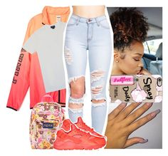 """Just got this jacket.. today's vibes"" by naebreezy ❤ liked on Polyvore featuring JanSport, Casetify, Polo Ralph Lauren and NIKE"