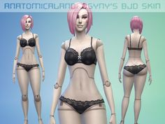 AnatomicalAndrogyny's Ball Jointed Doll skin Sims 4