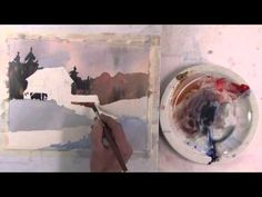 ▶ Painting A Landscape Using 3 Colours - YouTube