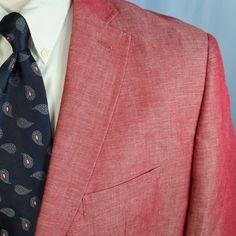 Alan Flusser Blazer Linen Cotton Pick Stitch 2 Button Sport Coat 48R New No Tags #AlanFlusser #TwoButton