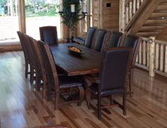 rustic kitchen tables | Rustic Dining Room Furniture - Western Decor, Western Furniture