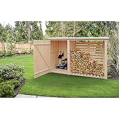 Wood Storage Firewood rack (pine / spruce, W x H: 240 x 190 cm) Outdoor Firewood Rack, Firewood Shed, Firewood Storage, Outdoor Storage, Wood Storage Sheds, Storage Shed Plans, Storage Room, Backyard Sheds, Backyard Landscaping