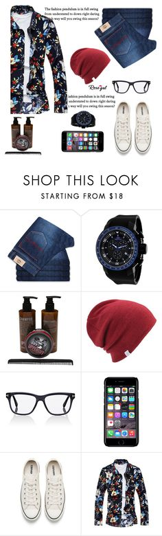 """3 D print"" by lula-l ❤ liked on Polyvore featuring Uppercut, Coal, Tom Ford, Off-White, Converse, men's fashion and menswear"