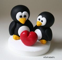 If only we were having a winter wedding...Joe would still likely deny me this cute cake topper...ha ha!