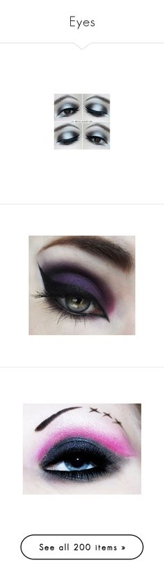 """""""Eyes"""" by icyraindancer ❤ liked on Polyvore featuring beauty products, makeup, eye makeup, eyes, lips, beauty, eyeshadow, false eyelashes, cosmetics and filler"""