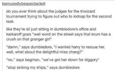 "Dumbledore: ""stop sinking my ships!"" :P"