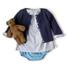 BONTON リブカーディガン、BONTON シャツ、BONTON ブルマ Kid Outfits, Kids And Parenting, Doll Clothes, Kids Fashion, Babies, Children, Pretty, Inspiration, Young Children