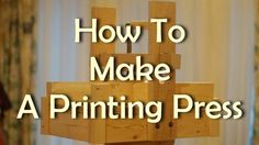 How to make a wooden printing press for linocuts.
