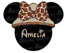 Disney Safari Minnie Printable Iron On Transfer or Use as Clip Art - DIY Disney Safari Shirt - Minnie Animal Kingdom - Digital Download