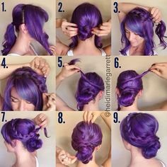 Step-by-step for a romantic braided updo | PinTutorials