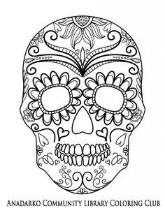 Sugar Skulls Mandalas Printables