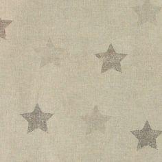 Linlook m sand/grå abstrakte stjerner