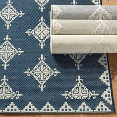 Shop for a fabulous Anders Patterned Indoor Outdoor Area Rug at Ballard Designs today and add a decorator floor accent you'll love. Get our Anders Patterned Indoor Outdoor Area Rug to spice up your living space! Indoor Outdoor Area Rugs, Outdoor Plants, Outdoor Rooms, Design Shop, Bath Design, Patio Rugs, Deck Patio, Shops, Navy Rug