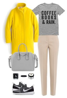 """""""Commitment"""" by mttakes ❤ liked on Polyvore featuring J.Crew, DKNY, Givenchy, NIKE, Jo Malone and L. Erickson"""