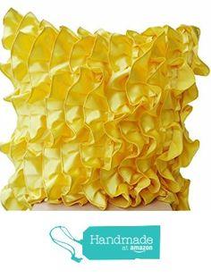 Amore Beaute Yellow Pillowcases in Fun Flirty Ruffles Design - Decorative Throw Pillow Cover in Yellow Satin - Handmade Sateen Pillowcovers - Sunshine Bright Yellow Throw Pillows from Amore Beaute https://www.amazon.com/dp/B01MU5DLA7/ref=hnd_sw_r_pi_dp_UDI9ybG34Q0J8 #handmadeatamazon