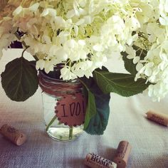 Ball jar wedding shower decor