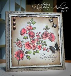 F4A253 ~ Admiring Kokirose by darleenstamps - Cards and Paper Crafts at Splitcoaststampers