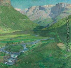 Eilif Peterssen (1852-1928): Strandefjord, Skogstad, Valders