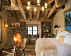 belos móveis rústicos para quarto de casal