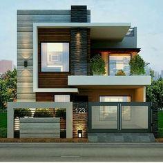 Fachada moderna! #casasmodernas