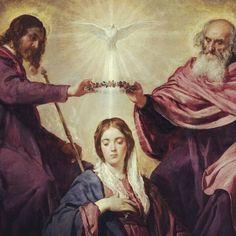 """MARÍA REINA  """"La Virgen Inmaculada ... asunta en cuerpo y alma a la gloria celestial fue ensalzada por el Señor como Reina universal, con el fin de que se asemejase de forma más plena a su Hijo, Señor de señores y vencedor del pecado y de la muerte"""". (Conc. Vat. II, Const. dogm. Lumen gentium, n.59)."""
