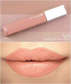 Maybelline - Egg Tutorial and Ideas Lipstick Swatches, Makeup Swatches, Lipstick Shades, Lipstick Colors, Liquid Lipstick, Lip Colors, Lipsticks, Superstay Maybelline, Maybelline Matte Ink