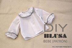 DIY de costura: Cómo hacer una blusa para bebé (patrón gratis)