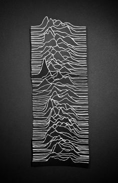 Unseen Pleasure by Daivd Benmussa: Audio wavelengths made from paper