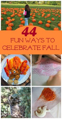 44 Fun Things to do in the Fall with Kids - ideas for indoor & outdoor activities, Halloween & Thanksgiving! Autumn Activities For Kids, Holiday Crafts For Kids, Fall Preschool, Preschool Ideas, Kids Crafts, Autism Activities, Creative Activities, Creative Play, Nov Holidays