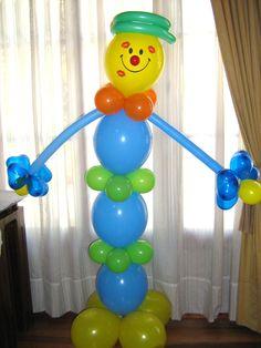 Les dejo hermosos y fáciles arreglos con globos queencontréenInternet,ideales para fiestas infantiles. La rana René:             Arb...