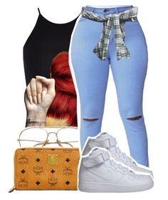 """""""1252"""" by ashley-mundoe ❤ liked on Polyvore featuring River Island, MCM and NIKE"""