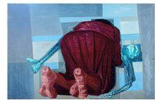 'Mulher Ajoelhada com Filho Morto', pintura a óleo/madeira compensada, um dos estudos para o painel 'Guerra'