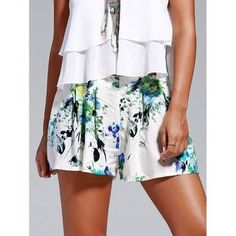 Sweet Floral Print Loosed-Fitting Shorts For Women