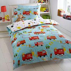 Aqua 'Fire Engines' bedding set - Kids bedroom - Kids -