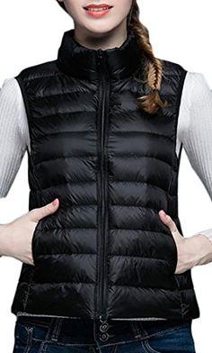 7e87337488c3 Yayu Womens Slim Puffer Lightweight Warm Packable Outwear Down Vest Black XS