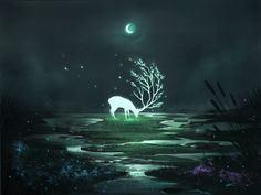 magical deer shared by Eirwyn on We Heart It Fantasy Creatures, Mythical Creatures, Fantasy World, Fantasy Art, Hirsch Tattoo, Deer Wallpaper, Pics Art, Storyboard, Wiccan