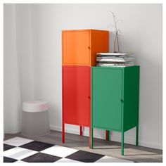 IKEA - LIXHULT Storage combination red/orange, green