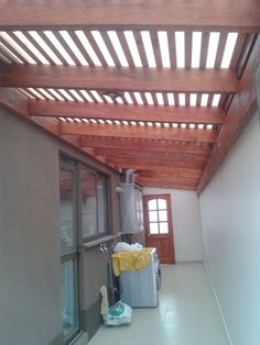 Pergola Front Of House Pergola Attached To House, Pergola With Roof, Roof Design, House Design, School Floor Plan, Laundry Room Inspiration, Backyard Canopy, House Deck, Garden Deco