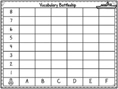 Vocabulary Battleship Very Cool Idea Foldables Latest Foldable