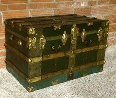 Antique Wood Trunk