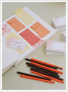 This is a great idea for a guestbook. The envelopes add to the surprise as you look forward to read your friends and family's well wishes.