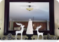 The Christmas Mantel - Coming Together via bliss bloom blog