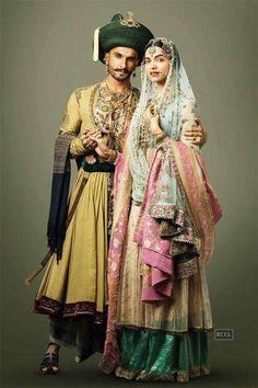 Promotional image for Bajirao Mastani. Anju Modi.