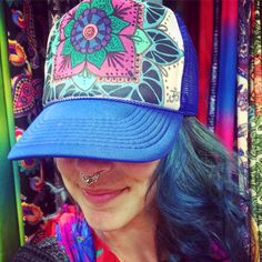 Beautifully Hand Painted Trucker Hat Made In Moab!