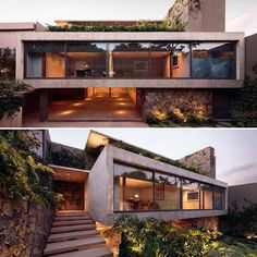 Love the concrete,steel and glass combination of this project in Mexico! Project b